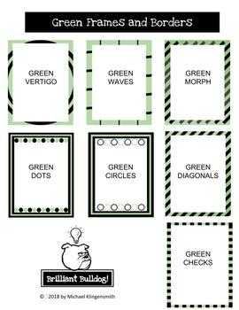Green frames and borders pack