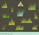 Green grass clipart, Easter spring grass with texture, Tufts of grass clip art