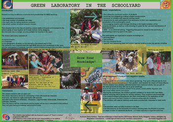 Green laboratory in the schoolyard_poster
