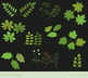 Green leaves clipart, Green foliage clip art, spring leaf, oak, maple, chestnut