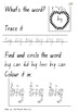 Green level word work booklet - First 100 words