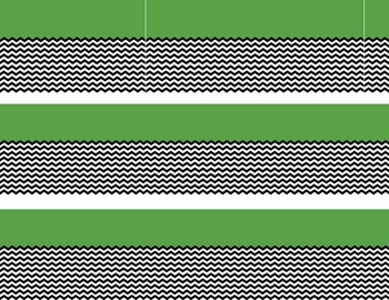 Green with black and white chevron border