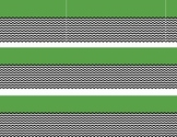 Green with black and white chevron border