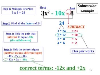 Greenebox Factoring Method:Trinomials