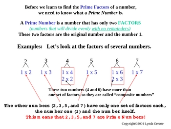 Greenebox Lecture-Prime Numbers & Prime Factorization