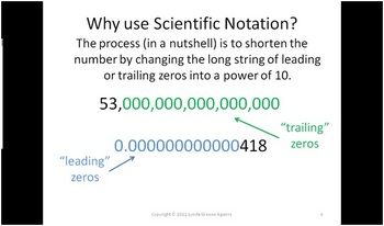 Greenebox - Scientific Notation Lecture