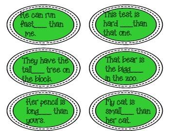 Greener or Greenest? Using Comparative Endings- FREEBIE!