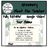 Greenery Meet the Teacher! DIGITAL!