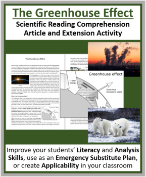 Greenhouse Effect - Reading Article - Grade 8 and Up