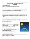 Greenhouse Effect and Climate Change Guided Notes
