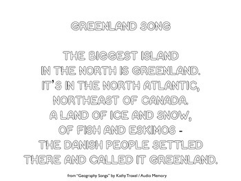 Greenland Song Lyrics Printing Practice and Bubble Letters by Kathy Troxel