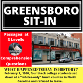 Greensboro Woolworth's Sit-In Differentiated Reading Passa