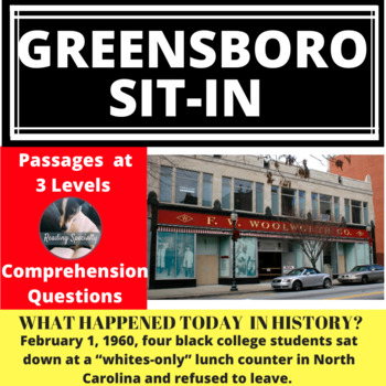 Greensboro Woolworth's Sit-In Differentiated Reading Passage Feb 1