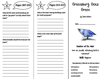 Greensburg Goes Green Trifold - Reading Street 6th Grade Unit 5 Week 5