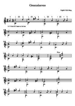 Greensleeves - Classical Guitar