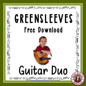 'Greensleeves' Easy acoustic guitar duo