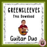 Free Music: 'Greensleeves' Easy acoustic guitar duo