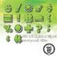 Greeny Alphabet Alpha Clip Art