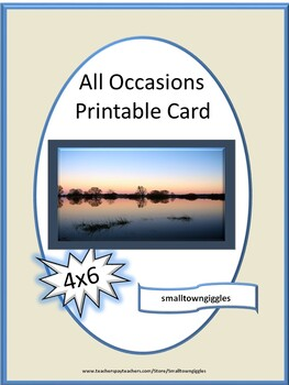 Printable All Occasion Greeting Cards for Writing Center, Thank You Birthday Etc