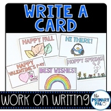 Greeting Cards: Work on Writing Center