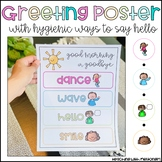 Greeting Poster with Sentence Stems