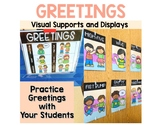 Greeting Visual Supports for Preschool, Pre-K Special Education