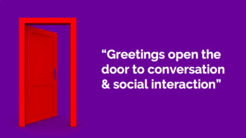 Greeting's and Initiating Conversation PPT (Day 1)
