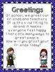 Greetings!  A mini social story and visual choice cards