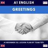 Greetings A1 Beginner Lesson Plan For ESL
