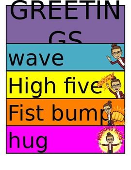 Greetings Bitmoji Poster (Editable)