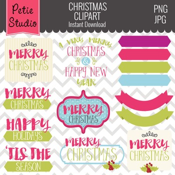 Greetings Clipart // Christmas Sayings // Holiday Greetings Clipart - Winter127