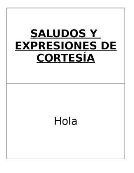 Greetings courtesy phrases large flash cards beginning spanish m4hsunfo