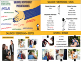 Greetings & Farewells in Spanish Bundle - distance learning friendly