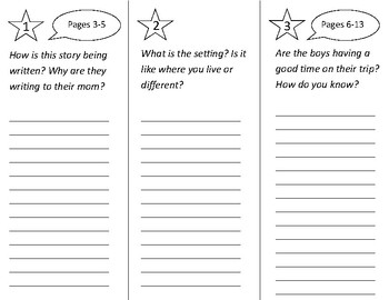 Greetings From Route 66 Trifold - 2nd Grade Literacy by Design Theme 6