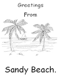 Greetings From Sandy Beach Spelling Activity Booklet & Unit