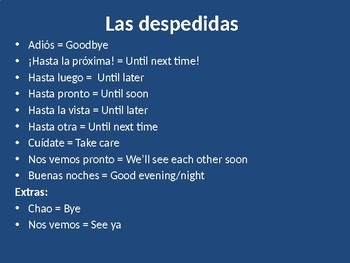 Greetings, Goodbyes, and How You're Feeling (PPT)