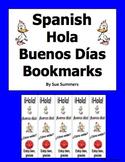 Spanish Greetings Bookmarks - Marcapaginas Hola Buenos Dias