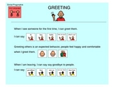 Greetings, Social Pragmatics - Autism VISUALS