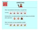 Greetings, Social Pragmatics - Autism VISUALS