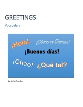 Greetings Vocabulary and Tests