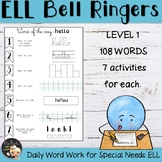 English Bell Ringers 1 - EFL Worksheets