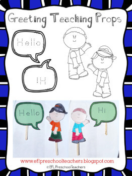 Greetings Theme Resources for Preschool ELL