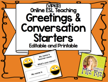 Greetings and Conversation Starters! {VIPKID or online teaching!}