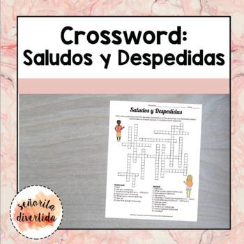 Saludos y Despedidas / Greetings and Farewells Crossword Puzzle