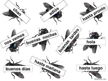 Greetings and Goodbyes Matamoscas Game / Saludos y Despedidas