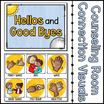 Greetings and Goodbyes Visual Choice Board With Distancing Options