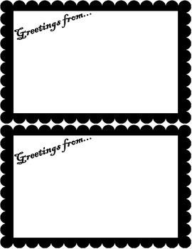 Greetings from... Social Studies Postcard Activity