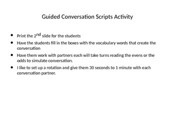 Greetings guided conversation practice activity
