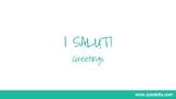 Greetings in Italian