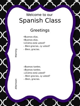 Spanish Greetings. Poster